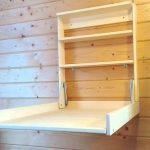 Как сделать откидной пеленальный столик из старого мебельного щита