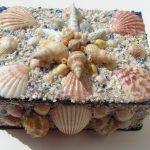 Как из гипса сделать декоративную шкатулку с отделкой из морских раковин