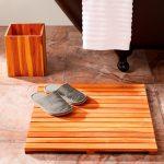 Деревянный коврик для ванной за час своими руками