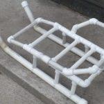 Как смастерить самодельные сани из поддона и пластиковых труб