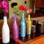 Как сделать вазочку из стеклянной бутылки