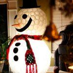 Как из пластиковых стаканчиков сделать объемную фигуру снеговика