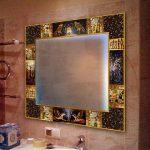 Как сделать красивый багет для зеркала в ванной своими руками