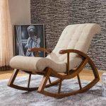 Кресло для отдыха из гнутой фанеры с мягким сидением и спинкой