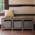 Скамейка с мягким сиденьем и ящиком для хранения своими руками