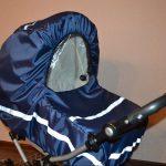 Как сшить непромокаемый чехол на коляску из старой куртки