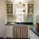 Как сшить шторки-фасады на кухонный шкафчик