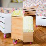 Ящик на колесиках для детских игрушек из старой советской тумбы