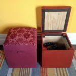 Самодельный пуф с ящиком для хранения для тех, кто хочет сэкономить на покупке мебели