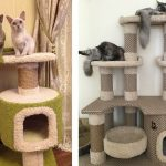 Самодельная когтеточка с лежанкой для спасения мебели от кошки