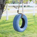 Как сделать подвесную качелю на дачу из старой шины и крепкого каната