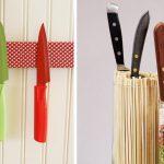 Как смастерить подставку для кухонных ножей