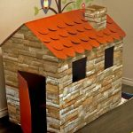 Волшебный домик для игрушек из обычного картона своими руками
