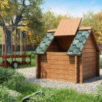 Колодезный домик из брусьев и профлиста: красиво и дешево