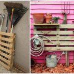 Как из деревянного поддона сделать щит для садового инвентаря за один вечер