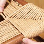 Как оплести спинку и сидение стула с помощью джутовой веревки