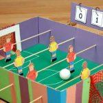 Как смастерить настольный мини-футбол для ребенка из того, что осталось после ремонта