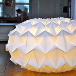 Креативный абажур из бумаги: как сделать своими руками