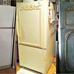 Как обновить старый холодильник с помощью покраски