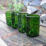 Как сделать набор стаканов из обычных стеклянных бутылок