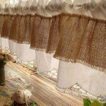 Как сшить стильные шторы для кухни из обычной мешковины