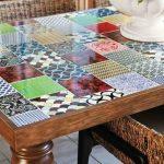 Как с помощью кусочков плитки, оставшейся после ремонта, сделать декор столешницы