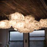 Лампа-облако из ваты, которая станет украшением детской