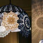 Как превратить обычное кружево в красивый светильник