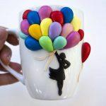 3 варианта красивого декора кружки полимерной глиной