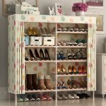 Стильная этажерка для обуви из керамической плитки