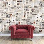 Как старыми газетами украсить дизайн лофт