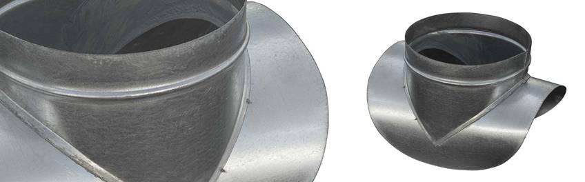Основные виды врезки для воздуховода