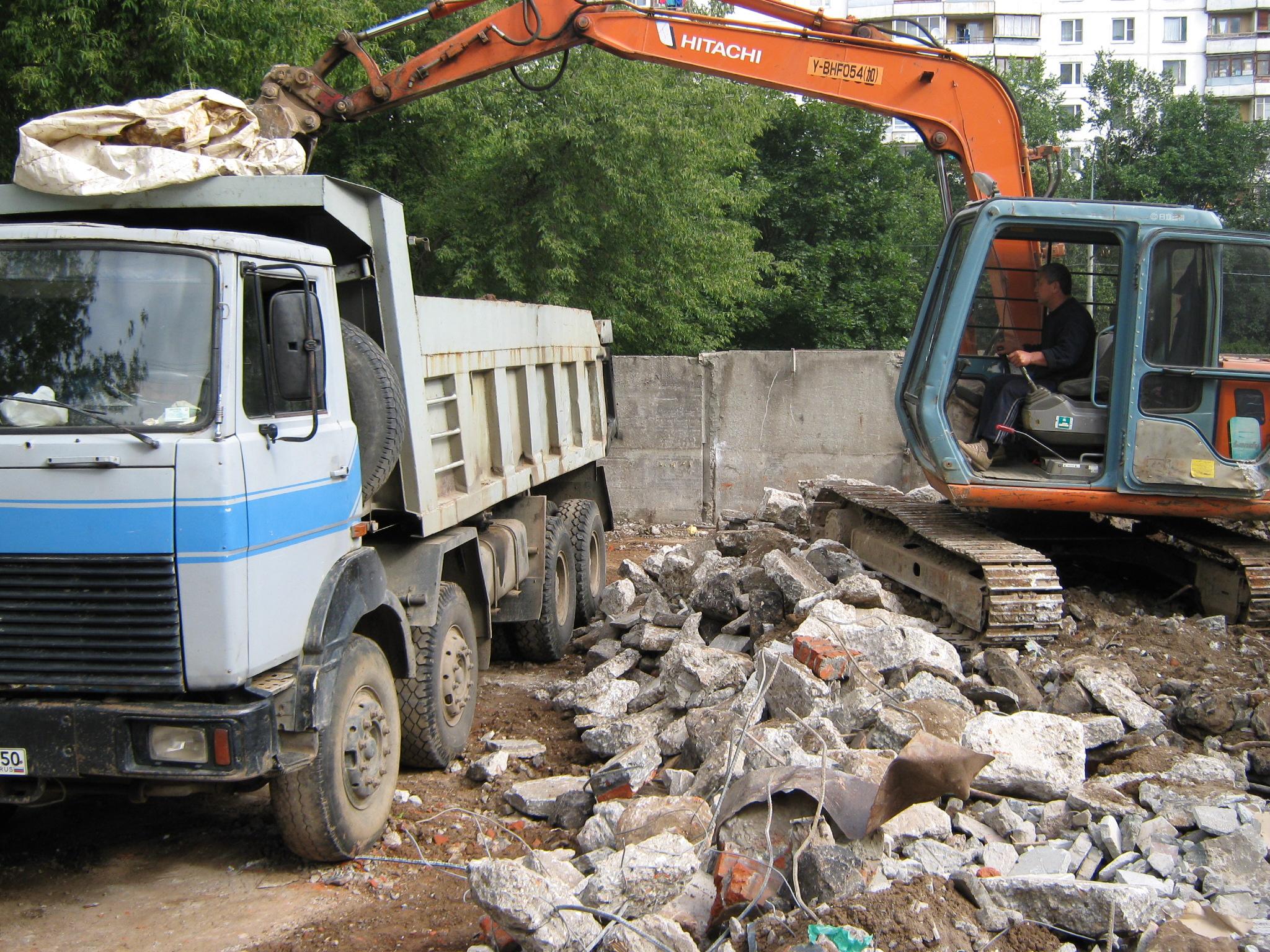 Как организовать вывоз строительного мусора
