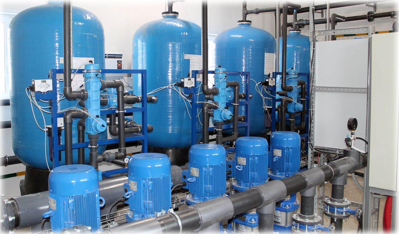 Этапы промышленной очистки воды