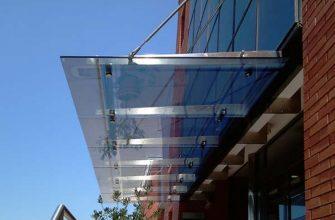 Основные особенности навесов из стекла