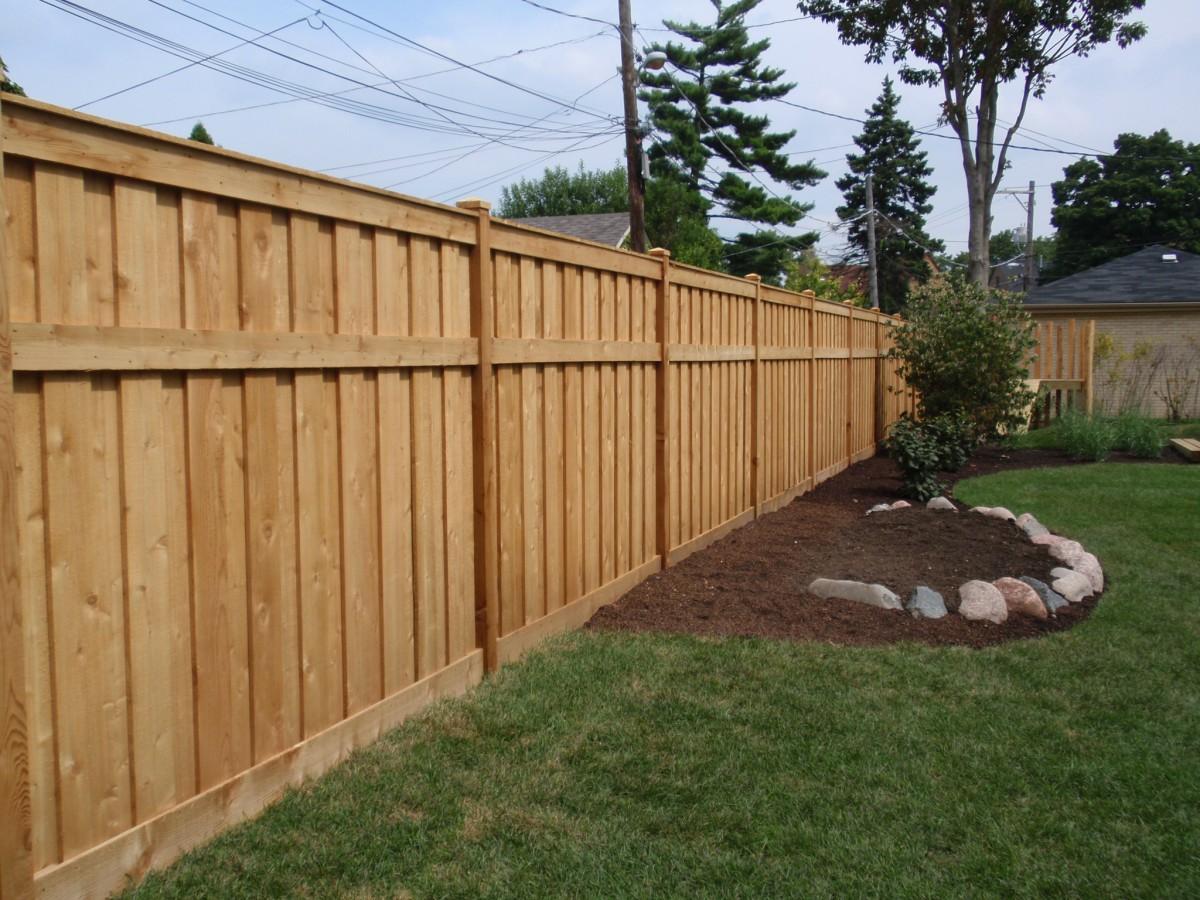 Забор частного дома своими руками